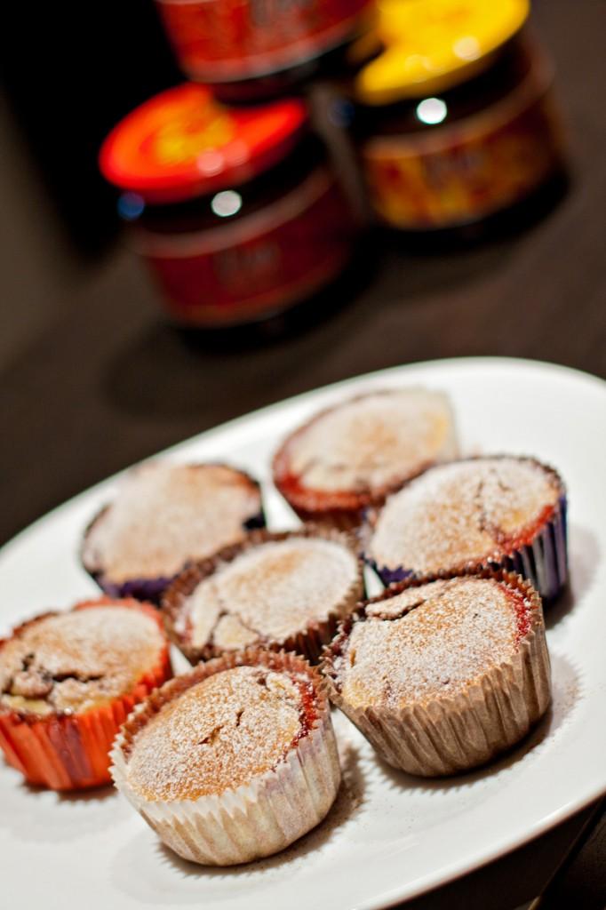 dzem diem-gp, vishni, mafini, muffins, muffin, cuisine, kitchen, dessert
